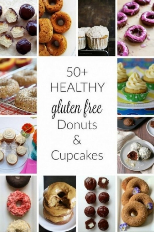 50+ Healthy Gluten-Free Donuts & Cupcakes // deliciousobsessions.com