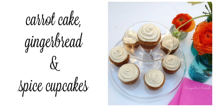 Carrot Cake, Gingerbread & Spice Cupcakes | Delicious Obsessions