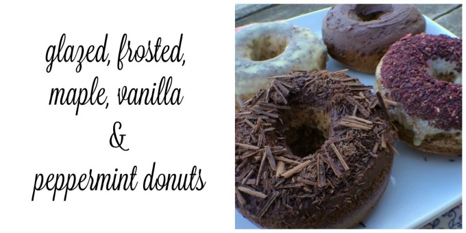 Glazed, Frosted, Maple, Vanilla & Peppermint Donuts | Delicious Obsessions