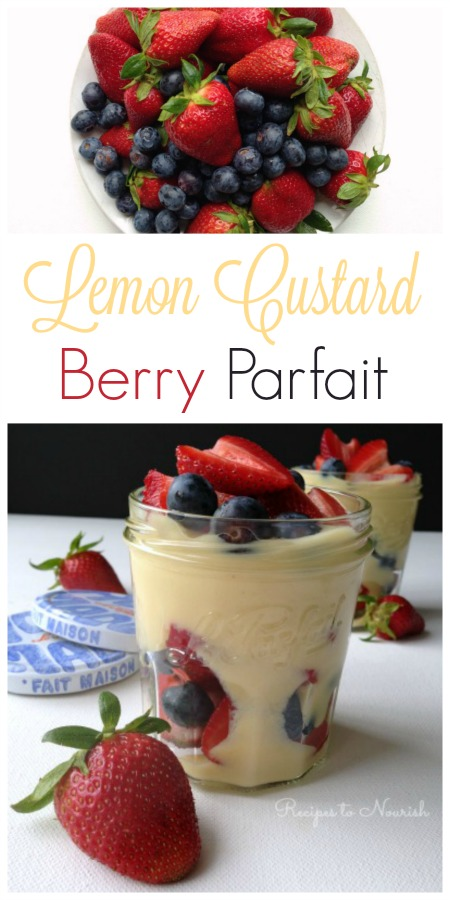 Lemon Custard Berry Parfait // deliciousobsessions.com
