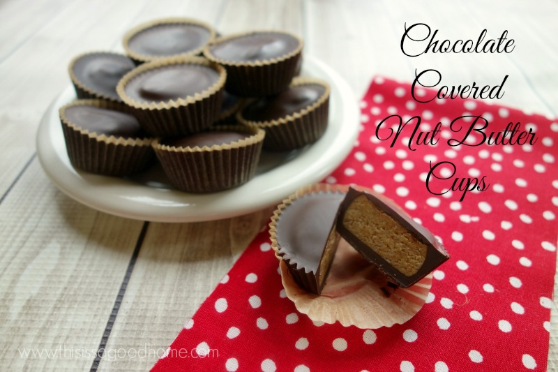 Learn how to make a real food and Paleo friendly version of Chocolate Covered Nut Butter Cups // deliciousobsessions.com