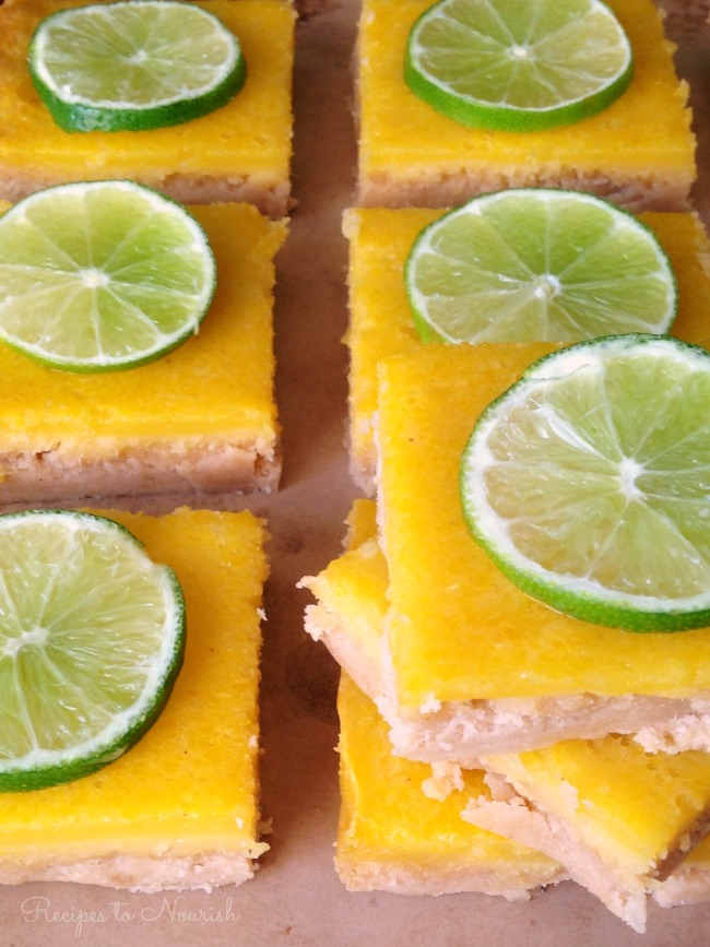Grain Free Lime Bars | Delicious Obsessions