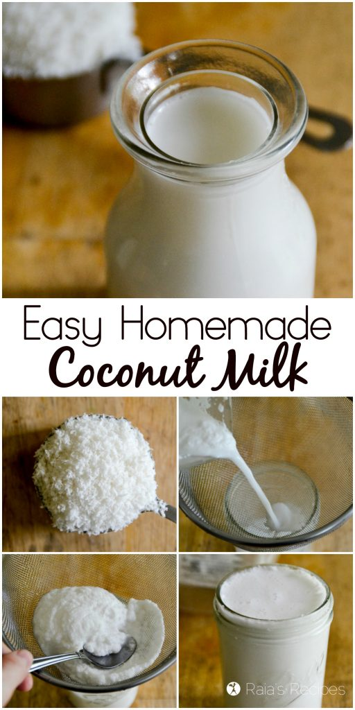 Easy Homemade Coconut Milk