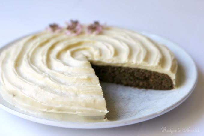 Grain Free Zucchini Cake with Cream Cheese Frosting