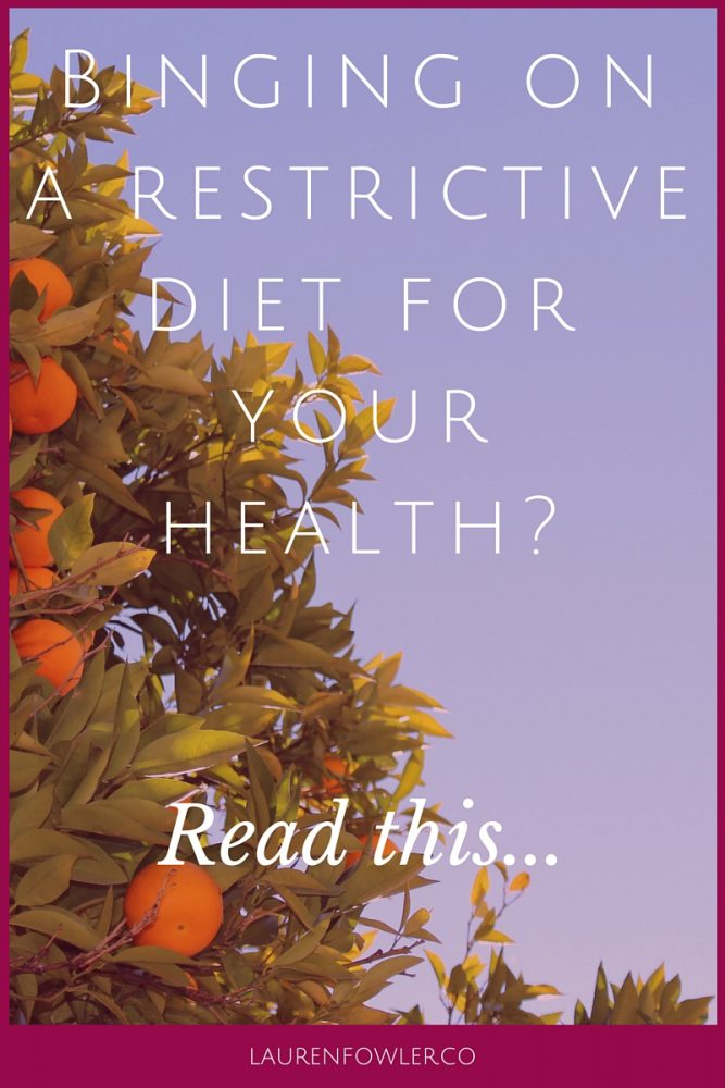 Binging while on a Restrictive Diet for your Health? Read this…