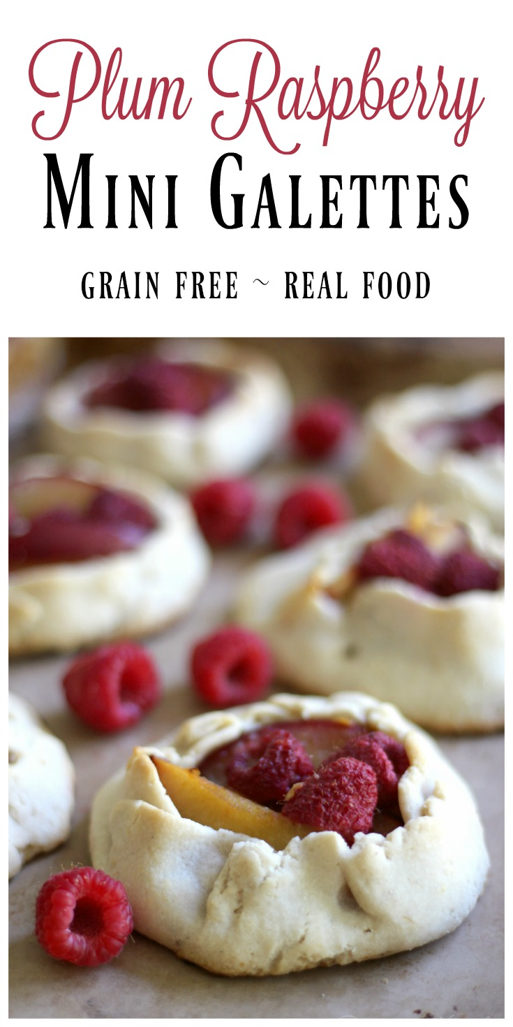 Grain Free Mini Plum Raspberry Galettes