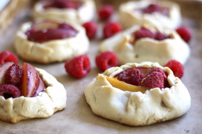 Mini Plum Raspberry Galettes : Delicious Obsessions