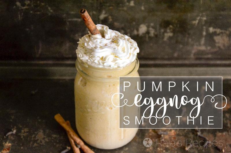 Healthy Pumpkin Eggnog Smoothie (Dairy-Free Option)