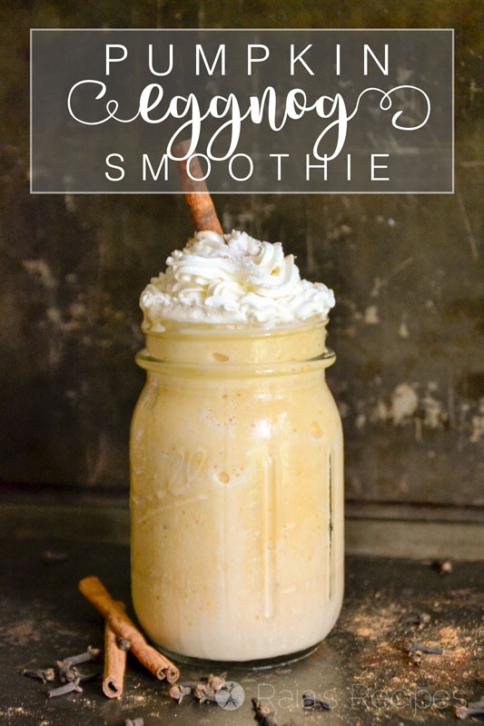 This Healthy Pumpkin Eggnog Smoothie a simple, yet nutritious drink that will be a real-food holiday pleaser for sure.