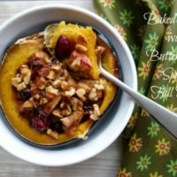 Baked Squash with Buttered and Spiced Fall Fruit :: Gluten-Free & Grain-Free