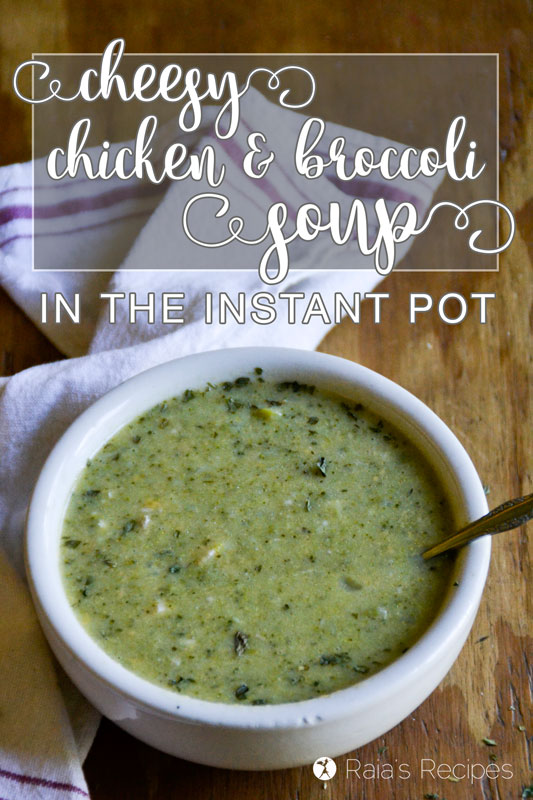 Nourish yourself from the inside out with this real-food, grain-free Cheesy Chicken & Broccoli Soup in the Instant Pot!