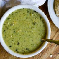 Cheesy Chicken & Broccoli Soup in the Instant Pot :: Gluten-Free & Grain-Free