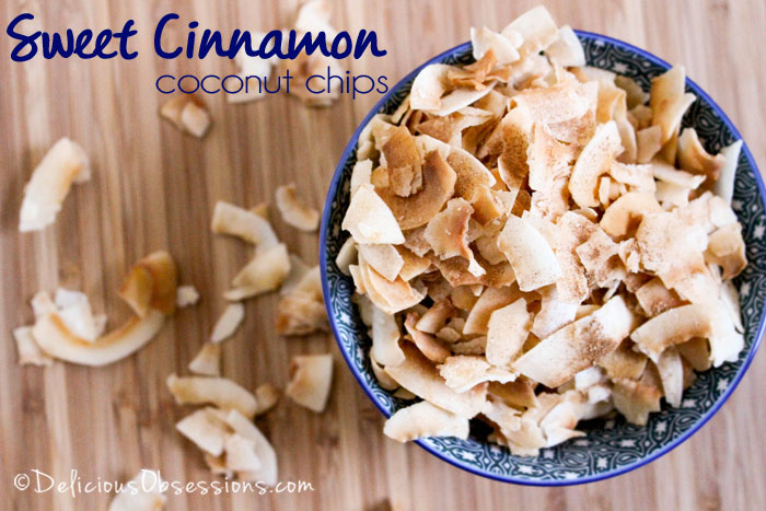 Sweet Cinnamon Coconut Chips :: Gluten, Grain, Dairy, and Refined Sugar Free