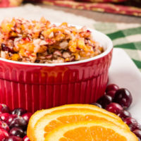 Cranberry Satsuma Relish with Coconut and Ginger