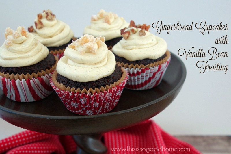 Gingerbread Cupcakes with Vanilla Bean Frosting :: Paleo, Gluten-Free, Grain-Free, Dairy-Free // deliciousobsessions.com