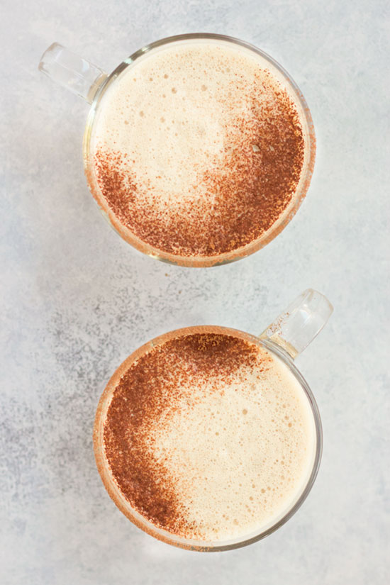 Frothy Golden Milk Hot Chocolate :: Dairy-Free Option // deliciousobsessions.com