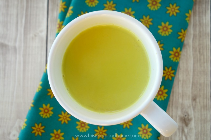 Learn how to make Golden Broth - a delicious and nourishing drink with the warm flavors of turmeric and ginger // deliciousobsessions.com