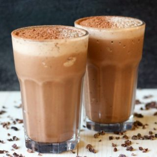 Healthy Chocolate Peanut Butter Protein Shake :: Dairy-Free Option