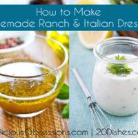 How to Make Homemade Ranch & Italian Salad Dressings :: Gluten-Free, Dairy-Free Option