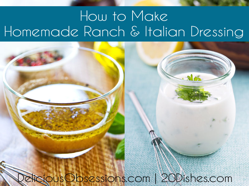 How to Make Homemade Ranch & Italian Salad Dressings :: Gluten-Free, Dairy-Free Option