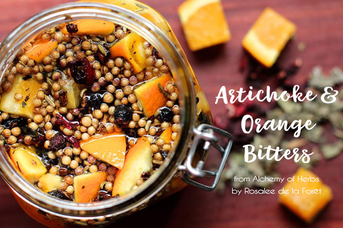How to Make Artichoke & Orange Bitters for Digestion {and why you should!}