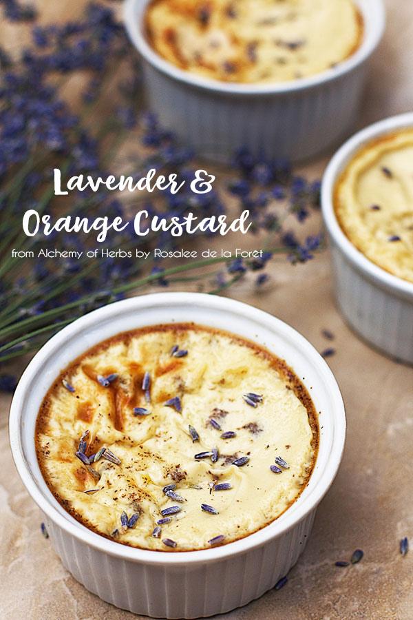 Lavender & Orange Custard :: Gluten-Free, Refined Sugar-Free, Dairy-Free Option