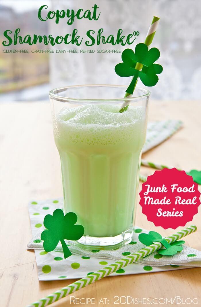 Junk Food Made Real: Copycat Shamrock Shake® :: Gluten-Free, Grain-Free, Dairy-Free, Refined Sugar-Free