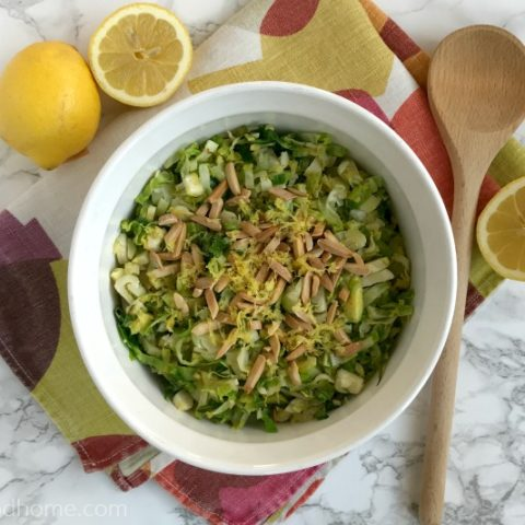 Shaved Brussels Sprouts with Lemon and Toasted Almonds :: Gluten-Free, Grain-Free, Dairy-Free, Paleo/Primal