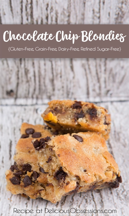 William's Chocolate Chip Blondie Recipe + A Very Personal Tribute :: Gluten-Free, Grain-Free, Dairy-Free, Refined Sugar-Free // deliciousobsessions.com