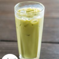 Iced Superfood Matcha Green Tea Latte :: Gluten-Free, Grain-Free, Dairy-Free, Sugar-Free
