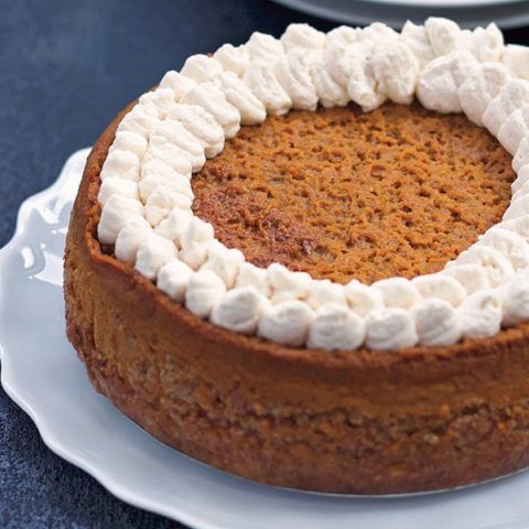 Instant Pot® Pumpkin Pie with Jaggery Crust :: Gluten-Free, Grain-Free, Refined Sugar-Free, Dairy-Free Option // deliciousobsessions.com