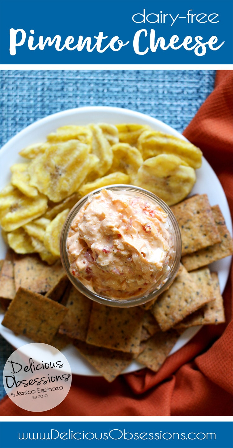 Dairy-Free Pimento Cheese :: Gluten-Free, Grain-Free // deliciousobsessions.com