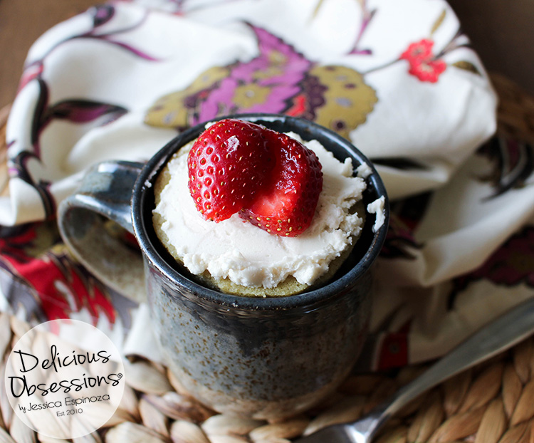 Easy Vanilla Mug Cake :: Gluten-Free, Grain-Free, Dairy-Free, Refined Sugar-Free