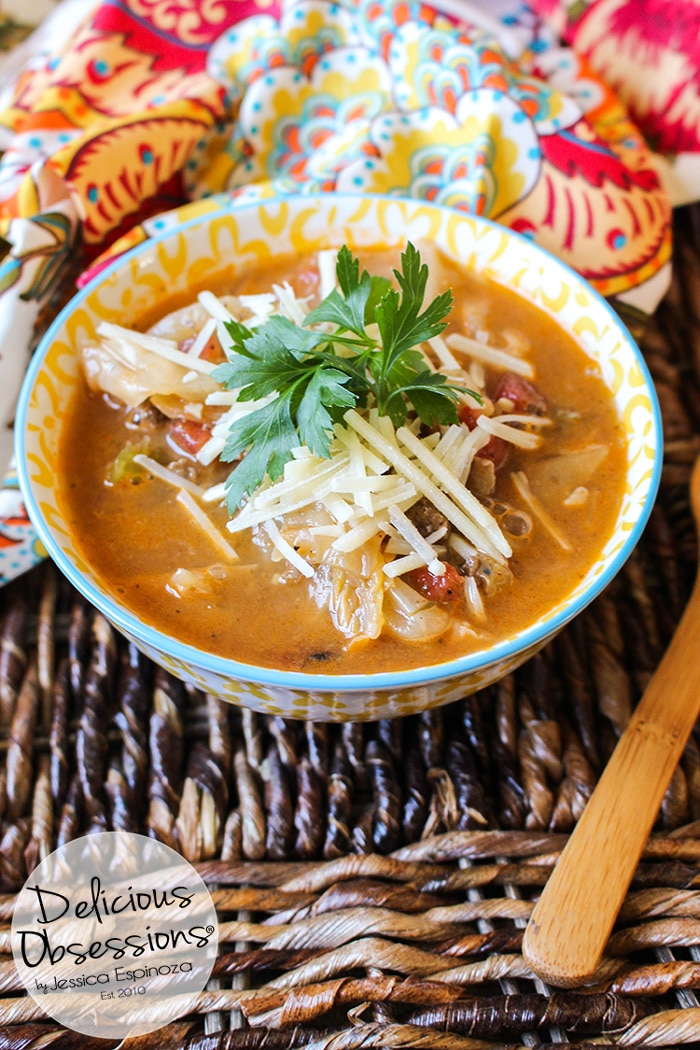 Hearty Beef and Cabbage Soup :: Gluten-Free, Grain-Free, Dairy-Free // deliciousobsessions.com