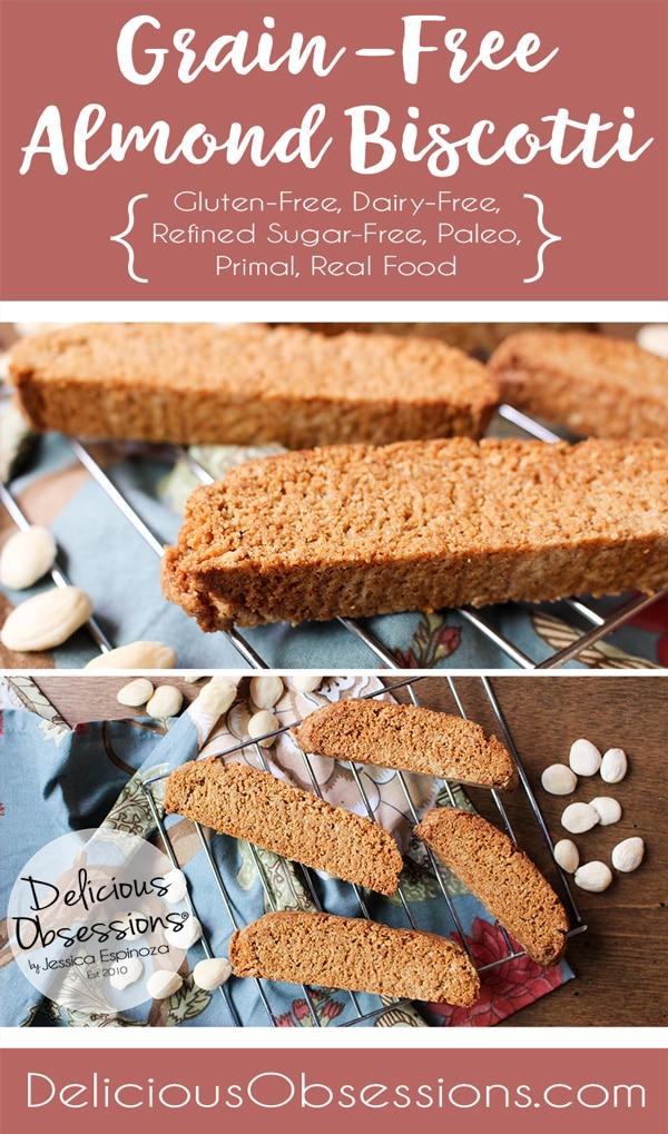 Grain-Free Almond Biscotti :: Grain-Free, Gluten-Free, Refined Sugar-Free, Real Food, Paleo // deliciousobsessions.com