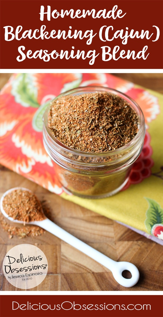 Homemade Blackening (Cajun) Seasoning Recipe // www.deliciousobsessions.com