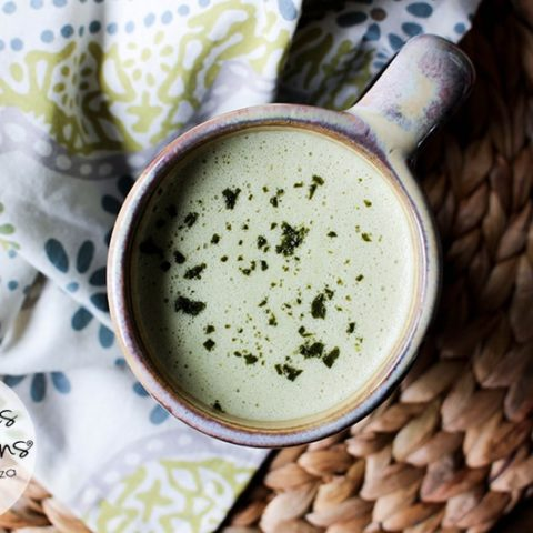White Chocolate Matcha Latte :: Dairy-Free, Gluten-Free, Refined Sugar-Free, Low Carb, Real Food, Paleo