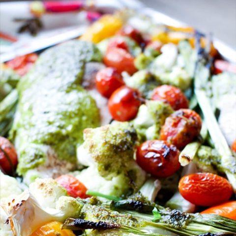 Garlic Basil Sheet Pan Chicken :: Gluten-Free, Grain-Free, Dairy Free