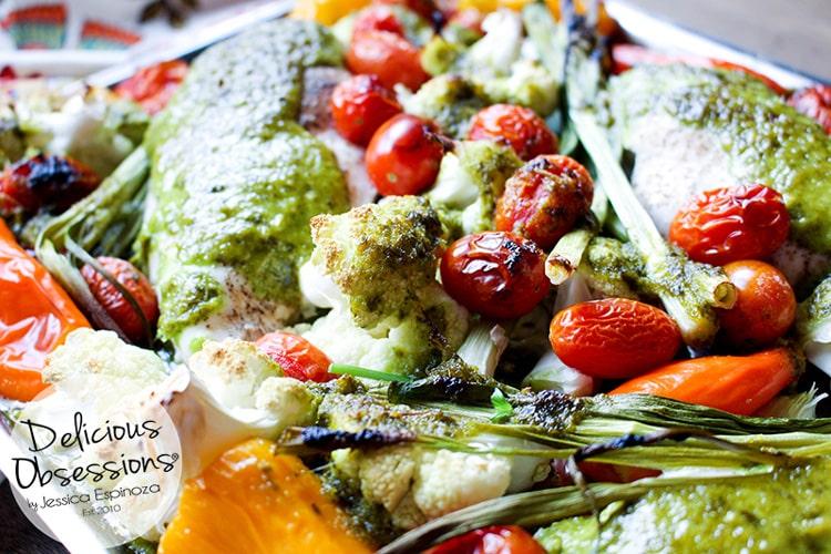 Garlic Basil Sheet Pan Chicken :: Gluten-Free, Grain-Free, Dairy-Free