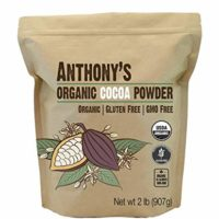 Anthony's Organic Cocoa Powder, 2lbs, Batch Tested and Verified Gluten Free & Non GMO