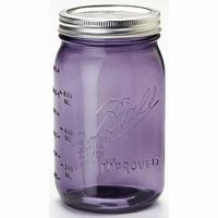 EAP Innovations Mason Jars, Purple, Regular Mouth, Pint, 12 Count