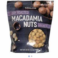 Kirkland Dry Roasted Macadamia Nuts with Sea Salt 680g (1.5 LB)