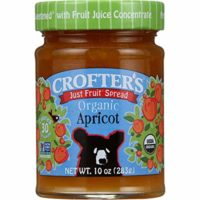 Crofter's Organic Just Fruit Spread, Apricot, 10 oz Jar