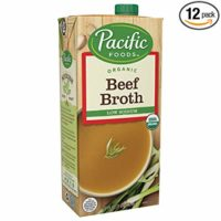 Pacific Foods Low Sodium Organic Beef Broth, 32oz, 12-pack