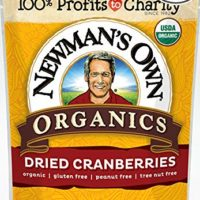 Newman's Own Organics Dried Cranberries, 4-Ounce Pouches (Pack of 6)