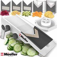 Mueller Austria V-Pro Multi Blade Adjustable Mandoline Cheese/Vegetable Slicer with Precise Maximum Adjustability