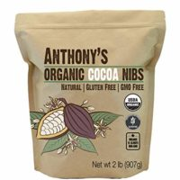 Anthony's Organic Cacao Cocoa Nibs, 2lbs, Batch Tested and Verified Gluten Free