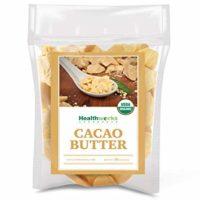 Healthworks Cacao Butter (16 Ounces / 1 Pound) Organic | Unrefined Non-Deodorized Cocoa | Certified Organic from Peru | Sugar-Free, Keto, Vegan & Non-GMO | Antioxidant Superfood