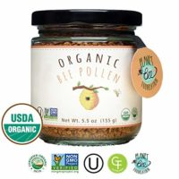 GREENBOW Organic Bee Pollen - 100% USDA Certified Organic, Pure, & Natural Bee Pollen - Superfood Packed with Proteins, Vitamins & Minerals - Non-GMO, Kosher Certified, Gluten Free - 155g