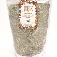 Pride Of India - Organic Lemongrass Fine Cut & Sifted - 3.53 oz (100 gm) - Certified Pure and Authentic Indian Herb - Perfect for Herbal Tea, Soups, Salads, Marinades etc